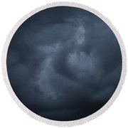 Rose Cloud Formation Round Beach Towel