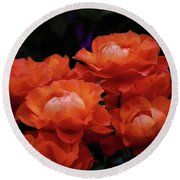 Rose Cluster Round Beach Towel
