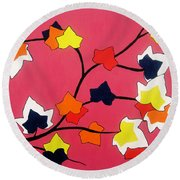 Rose Coloured Glow Round Beach Towel