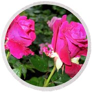 Rose Duo Round Beach Towel