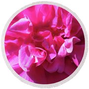 Rose Explosion Round Beach Towel