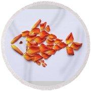 Rose Fish Round Beach Towel