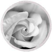 Rose Flower Black And White Monochrome Round Beach Towel