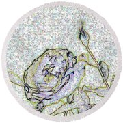 Rose For U Round Beach Towel