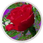 Rose For You Round Beach Towel