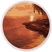Rose From The Sea Round Beach Towel
