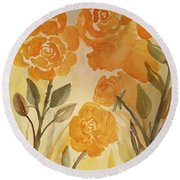 Rose Gold Round Beach Towel