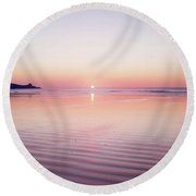 Rose Gold Sunset Round Beach Towel