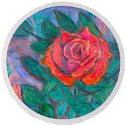Rose Hope Round Beach Towel