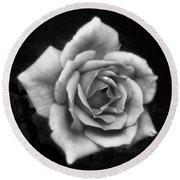 Rose In Mono. #flower #flowers Round Beach Towel
