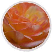 Rose In Yellow And Pink I Round Beach Towel