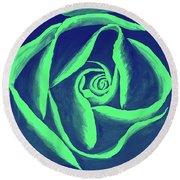 Rose Mint Round Beach Towel