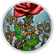 Rose N Thorns Round Beach Towel