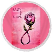 Rose Of Hope Round Beach Towel