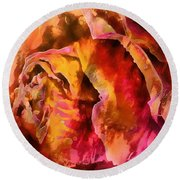 Rose Of Passion Round Beach Towel