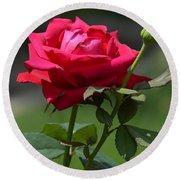 Rose Of Romance Round Beach Towel