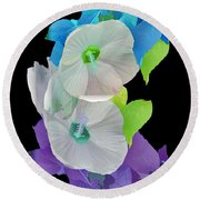Rose Of Sharon Painted Round Beach Towel