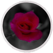 Rose Of Solitude Round Beach Towel by DigiArt Diaries by Vicky B Fuller