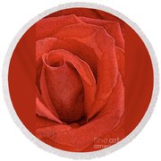 Rose-paintdaubs-2 Round Beach Towel