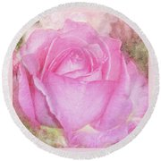 Enjoy A Rose Soft Pastel Round Beach Towel
