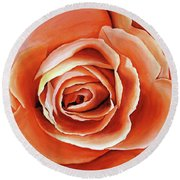 Rose Petals Round Beach Towel