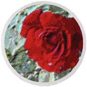 Rose Red Round Beach Towel