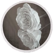 Rose Reflection Round Beach Towel