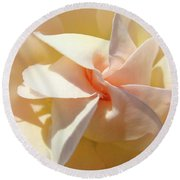 Rose Spiral Flower Art Prints Peach Rose Floral Baslee Troutman Round Beach Towel