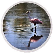 Roseate Spoonbill Round Beach Towel