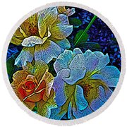 Roses Aglow Round Beach Towel