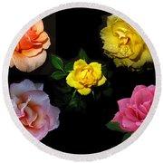Roses Beautiful Round Beach Towel