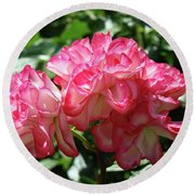 Roses Bouquet Pink White Rose Flowers 2 Rose Garden Baslee Troutman Round Beach Towel