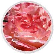Roses Cinnamon Pink Rose Flowers 3 Rose Garden Art Baslee Troutman Round Beach Towel