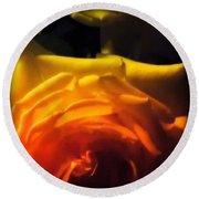 Roses In Moonlight 11 Round Beach Towel
