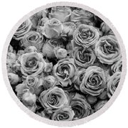 Roses 2 Round Beach Towel