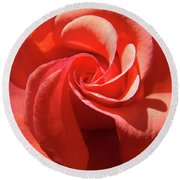 Roses Orange Rose Flower Spiral Artwork 4 Rose Garden Baslee Troutman Round Beach Towel