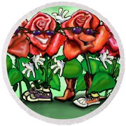 Roses Party Round Beach Towel
