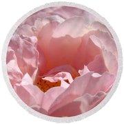 Roses Pink Rose Flower 2 Rose Garden Art Baslee Troutman Collection Round Beach Towel