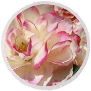 Roses Pink White Rose Flowers 4 Rose Garden Artwork Baslee Troutman Round Beach Towel