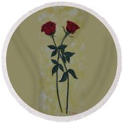 Long Stem Roses Round Beach Towel