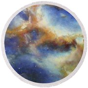 Rosette Nebula Round Beach Towel