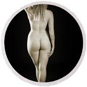 Rosie Nude Fine Art Print In Sensual Sexy 4620.01 Round Beach Towel