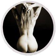 Rosie Nude Fine Art Print In Sensual Sexy 4628.01 Round Beach Towel