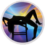 Rosie Nude Fine Art Print In Sensual Sexy Color 4689.02 Round Beach Towel