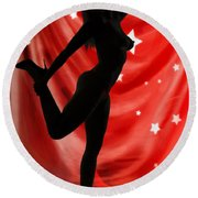 Rosie Nude Fine Art Print In Sensual Sexy Color 4690.02 Round Beach Towel