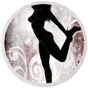 Rosie Nude Fine Art Print In Sensual Sexy Color 4691.02 Round Beach Towel