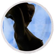 Rosie Nude Fine Art Print In Sensual Sexy Color 4693.02 Round Beach Towel