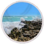 Ross Witham Beach Hutchinson Island Florida Round Beach Towel