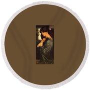 Rossetti Dante Gabriel - Proserpine End Dante Gabriel Rossetti Round Beach Towel