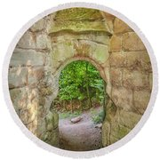 Rosslyn Castle Forest Entry Round Beach Towel